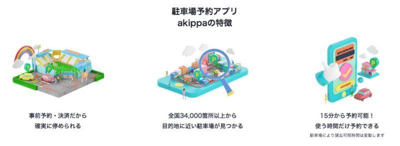 駐車場予約アプリakippa
